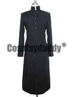anime trench coat - THE MATRIX COSPLAY COSTUME NEO BLACK TRENCH COAT M002