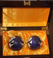 baoding china - Shou Xing blue mm Multifunctional fitness ball Brand Originating in Baoding China Cloisonne Blue Panda design and retail