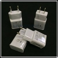 Wholesale For Samsung S6 S7 NOTE4 Real FAST CHARGER V A V A Adaptive Fast Charging USB Travel Wall Charger AC Power Adapter With EU US Plug