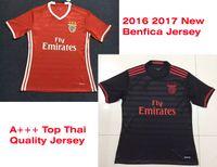 sports jerseys - Benwon Benfica home red soccer shirts men s short sleeve top thai quality football jersey benfica away black adult s sports jerseys