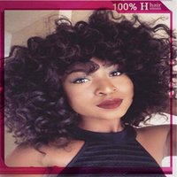 american hair weave - African American Wig Lace Front Short Afro kinky Curly Hair Wigs for Black Women Fashion Brazilian Hair Weave