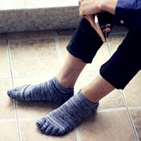 Wholesale Vintage Summer Breathable Cotton Socks Fashion Design Five Finger Toe Sport Socks Colors