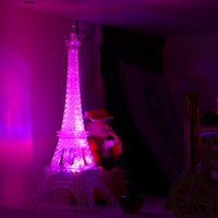 Wholesale Indoor Lighting Night Lights Romantic Eiffel Tower Color Changing LED Night Light Bedroom Home Decoration Popular New