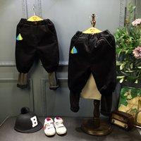 Wholesale 2016 winter boys neutral Haren children cashmere corduroy trousers pants cuff false two pants
