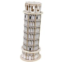 Wholesale Creative Assemble Puzzle Toys Child Early Education Wooden D Puzzle Building Leaning Tower of Pisa