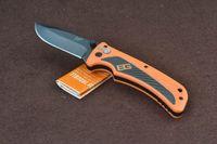 bear packaging - GB Bear Grylls Survival AO Folder Cr17MoV Plain Drop point Orange Rubber Tactical Camping gear knives w retail packaging