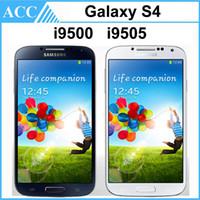 Wholesale Refurbished Original Samsung Galaxy S4 i9500 i9505 inch HD Quad Core GHz Wifi G G Unlocked Smart Phone Original Battery DHL