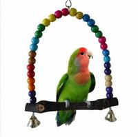 Wholesale Wooden Bird Parrot Swing Toys Parakeet Cockatiel Lovebird Budgie Cage Hanging Perfect good Gift