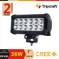 atv warning lights - 6 inch W LED Light Bar V V Motorcycle LED Bar Offroad x4 ATV Daytime Running Lights Truck Tractor Warning Work Light