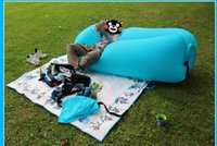 Wholesale Nylon Inflatable laybag Sleeping Bag Hangout Lounger Air Sofa Soft Sleep Bed Lazy Chair Shipping with DHL Good Quality Factory Price
