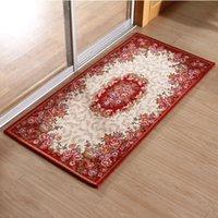 absorbent door mats - Fashion Anti skid Jacquard Carpet for Living Room Floral Kilim Wedding Door Mats Floor Rugs Absorbent Mats for Kitchen