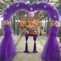 Wholesale The new heart shaped flower door marriage wedding silk arches opening celebration activities organza