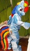 Wholesale Rainbow Dash Mascot Costume Pegasus Pony Adult Costume My Little Pony Friendship is Magic Rainbow Horse Fancy Dress