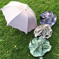 Wholesale Stainless steel handle umbrella and nylon waterproof sun umbrella beautiful and colorful umbrella compact and convenient