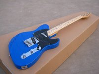 best guitar parts - Best Selling ST electric guitar solid blue maple neck chrome parts