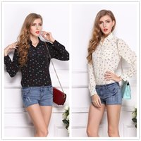 anchor blouse - 2016 New Hot Chiffon Blouses Womens Clothing Boat Anchor Printing Tops Shirt European Style Plus Size Shirts For Womens Tops t Shirts