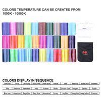 Wholesale Flash Speedlite Colors Color Gel Kit with Barndoor Reflector Bag for Canon Nikon YONGNUO GODOX Falcon Eyes CFA K