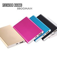 backup cell phone charger - 8800mAh Ultra Thin Slim Power Bank Charger External Backup Battery For iPhone iPad Samsung cell Phone Charger Factory Outlet Price