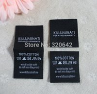 apparel tags and labels - custom name logo and wash instruction embroidered woven labels center fold website damask clothing labels and tags