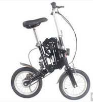 Wholesale quot New Fashion Portable Single Speed Folding Bicycle Mini Foldable Bike Black