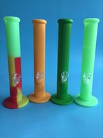 Wholesale DHL silicone water pipes four colors for choice glass bongs glass water pipe silicone water pipe