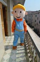 Bob le costume de mascotte mâle adulte Builder costume caricature de parti taille adulte fabrique de vêtements costume d'Halloween de Noël personnalisé privé direct