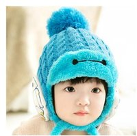 baby s animal hat - Baby warm winter hat plus velvet hat baby hat and children s hooded cap months