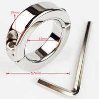 Cheap New Scrotum Bondage Gear Ball Stretcher Male Penis Cock Ring Stainless Steel Metal Chastity Ring Adultsex Toy