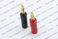 audio binding posts - Gold Plated Plug Speaker Banana Red and Black Connector For Amplifier Speaker Audio Cable Binding Post