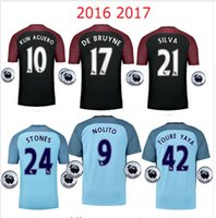 best compress - best thai quality Manchester city soccer Jerseys Home away KUN AGUERO DE BRUYNE STERLING SILVA NOLITO STONES football shirt