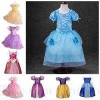 baby sleeping beauty - Kids Cinderella Frozen Dresses Belle Princess Dress Girls Sleeping Beauty Party Dress Baby Belle Princess Cosplay Dress Christmas Dress D112