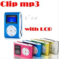 Wholesale Mini Clip MP3 Player with Inch LCD Screen Music player Support Micro SD Card TF Slot Come with Earphone USB Cable Retail Box