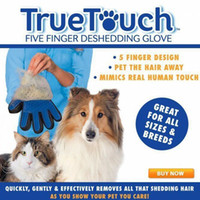 Wholesale Retail Box True Touch Five Finger Glove Pet Puppy Dog Cat Grooming Cleaning Right Hand Silicone Massage Removal Dirtly Bath Hair Comb Brush
