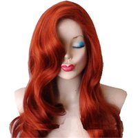 Wholesale Rcoto gt gt gt Jessica Cosplay Rabbit Wig Red Long Curly Wave Inch Hair Halloween Accessory Brand New