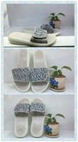 adhesives suppliers - 2016 New Style Women and Men slippers lazy drag soft bottom massage nail Grey and white shoes boost suppliers