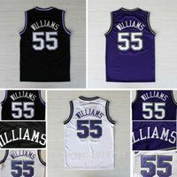 Wholesale Discount Top Quality Jason Williams Sacramento Throwback Basketball Jerseys Retro All Stitched Embroidery Jersey Size S XL