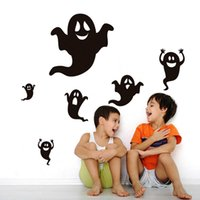 baby wall accessories - Fashion Baby Room Decal Halloween Cartoon Ghost Wallpaper Wall Sticker Accessory