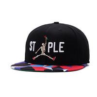 jordan hats - Hip Hop Jordan Snapback Cap Skeleton Dunk Hat Street Workout Gorras Graffiti Brim