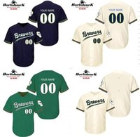 baseball designs - New Design Custom Milwaukee Brewers cool base throwback Baseball Jersey S XL For Sale stitched
