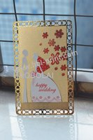 Wholesale Photo ID Tarjeta de metal frosted shading and wonderfull hollow out lace PHOTO METAL CARD