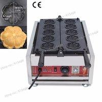 Wholesale Commercial Non stick V V Electric Cherry Blossom Flower Waffle Iron Maker Baker Machine