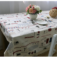 Wholesale Cotton Rectangular Round Table Cloth Lace Personalized Pattern Table Decor tablecloth Mat Cover Party Hotel Korean Style