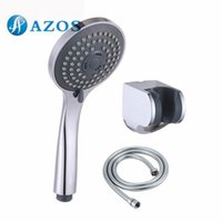 Wholesale Bathroom Three Function Handheld Shower Head with Extra Long Hose and Bracket Holder Chrome Bathroom Accessories HHS007 F