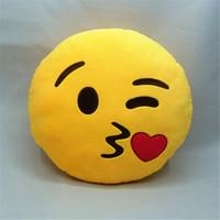Wholesale 200pcs Emoji Cushion Cute Smile Face Emoji Decorative Pillow cm Emoji Plush Doll for Sofa Decor