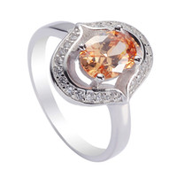 best engagement ring brands - 925 sterling silver for women Rings Champagne Cubic Zirconia Favourite S sz Rave reviews Noble Generous Best Sellers Brand New
