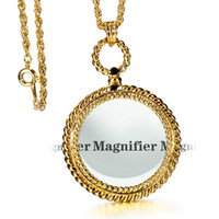 bands pendant - DC1989 Band New Round Necklace Reading Glass Pendant For Reading Purpose x Magnifying Cute Look Platinum Gold Plated