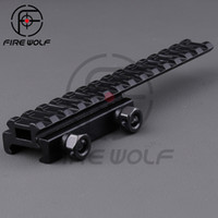 aim scope mount - 2016 NEW Scope Mount Base Flattop Riser Extended long Pour mm picatinny Weaver Rail aiming scope mount