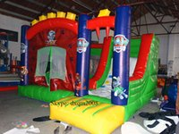 best jump inflatables - 2016 best quality Giant dual slide inflatable castle jumping bouncer for sale