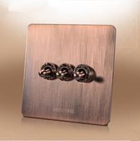 Wholesale UK Standard gang way light switch and lamp switch AC110 V wall switch V push button switch