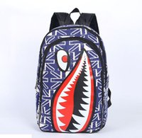 Wholesale Europe and the United States creative shark bag students shoulder bag lovers travel bag creative backpack